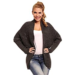 Glamour Empire Women's Long Sleeve Batwing Knitted Cardigan 329