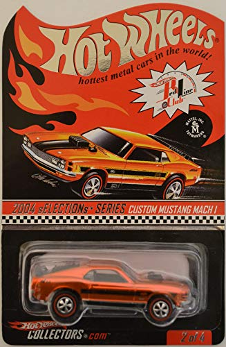 Custom Mustang Mach I Orange #2 of 4 Hot Wheels Red Line Club (RLC) HW 2004 sELECTIONs Series 1:64 Scale Collectible Die Cast Model Car. Only 10385 Made Worldwide!!!