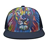 Fitted Adjustable Art Colorful Lion Head Sun Hats Style Caps