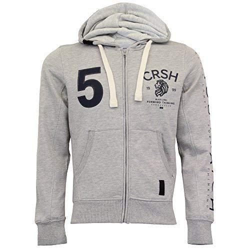 mens hooded top fleece lined sweatshirt by Crosshatch