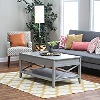 Belham Living Hampton Lift-Top Coffee Table - Gray