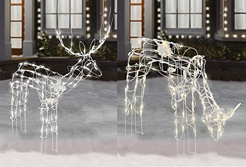 2-Piece Lighted Animated Holiday Deer Family - 48