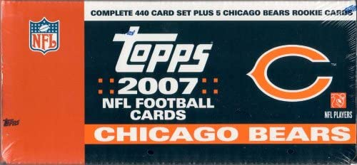 Reggie Bush Michael Vick Ben Roethlisberger Randy Moss Ladainian Tomlinson Peyton Manning, Loaded with Stars Including Tom Brady 2007 Topps Football Factory Sealed Chicago Bears Box Version with 5 Extra Bears Rookie Cards Vince Young Philip Rivers