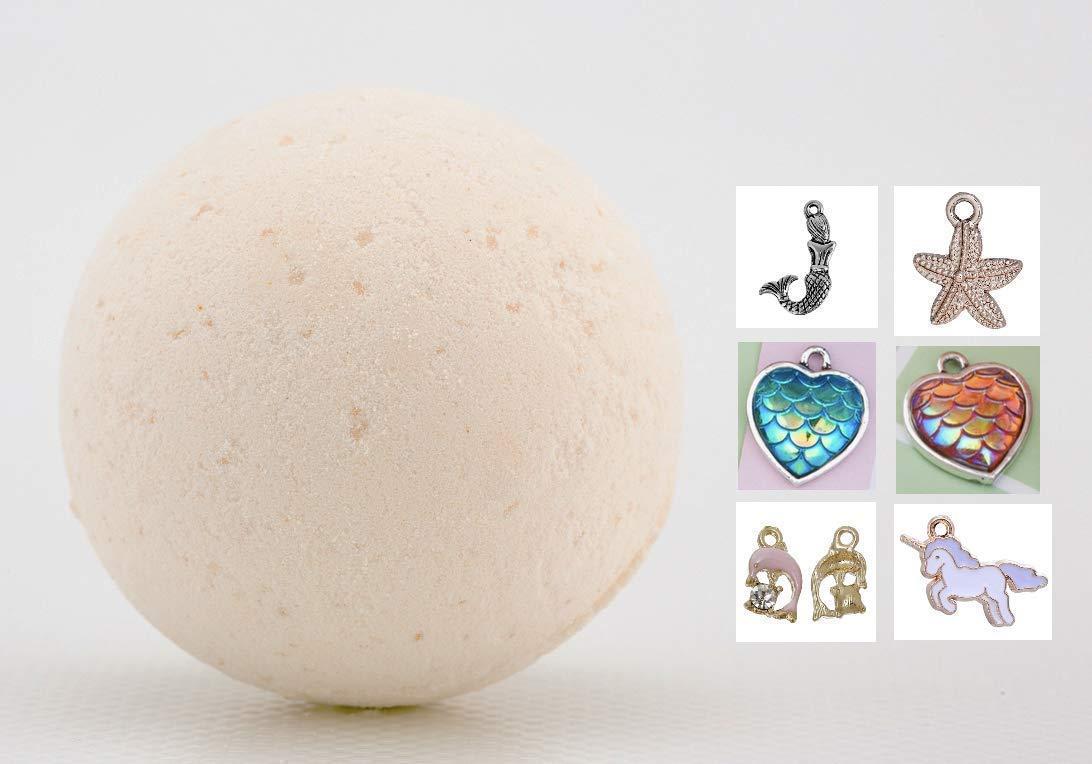 Organic Natural Bath Bomb for Kids with Hidden Surprise Charm Inside, 70mm diameter