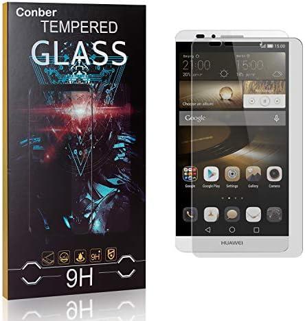 Conber [3 Stück] Displayschutzfolie kompatibel mit Huawei Mate 7, Panzerglas Schutzfolie für Huawei Mate 7 [9H...