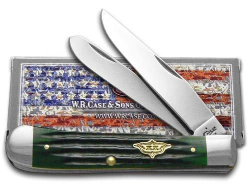 W.R. Case & Sons Cutlery Case Hunter Green Bone Trapper Pocket Knife