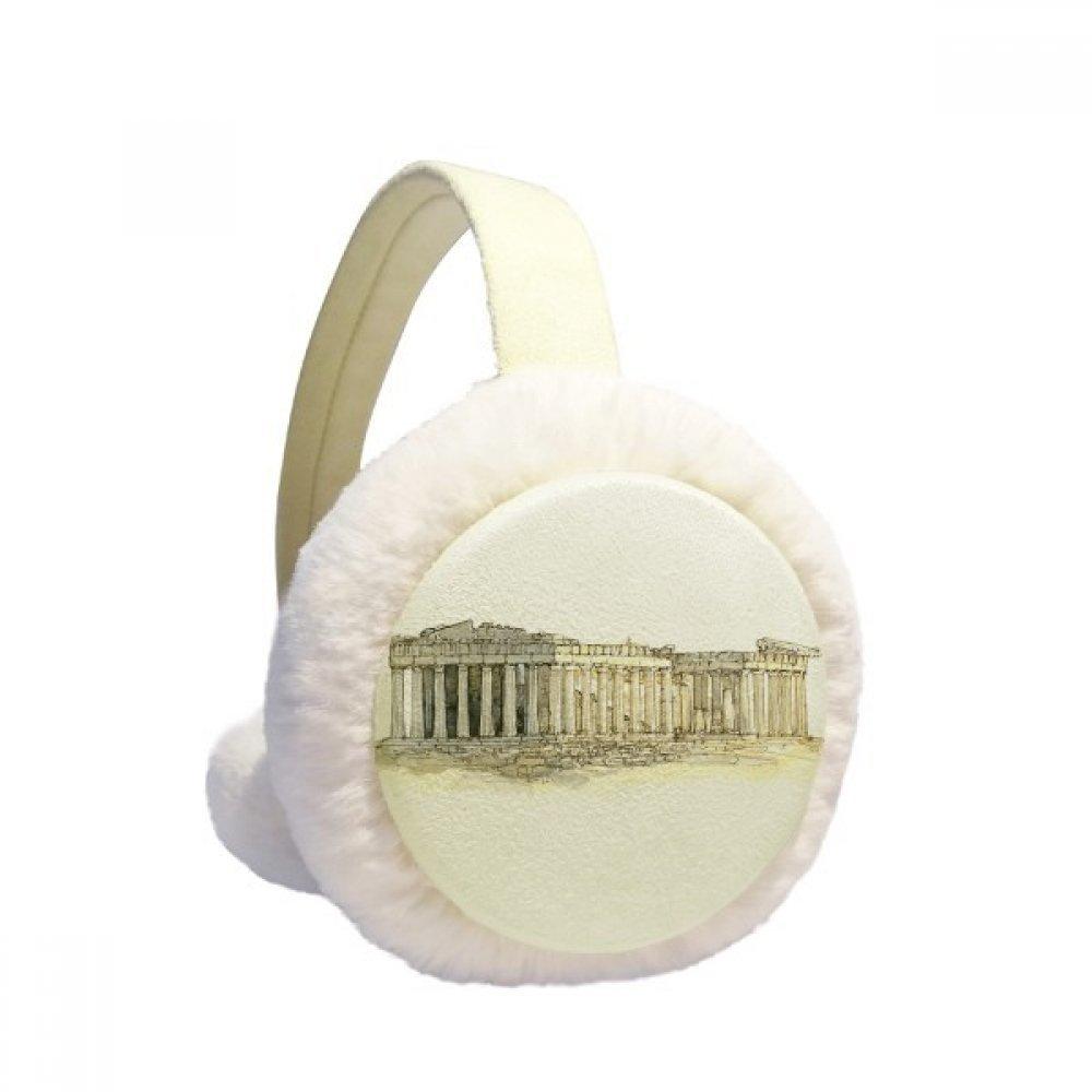 Acropolis of Athens of Greece Winter Earmuffs Ear Warmers Faux Fur Foldable Plush Outdoor Gift