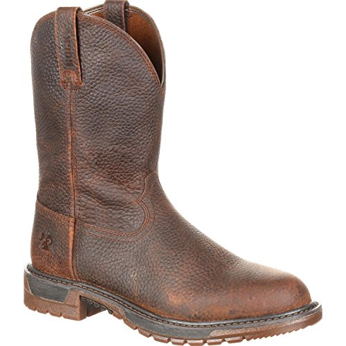 - Rocky Men's Original Ride FLX Western Work Boot Round Toe Brown 11 D
