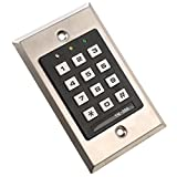 MATEE Weatherproof Stainless Steel Digital Access Control Keypad With Proximity Reader For Electric Locking