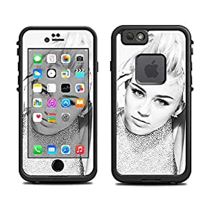 Skin for Lifeproof 6 Case (skins/decals only) - Miley Cyrus- black & white photo. Glamorous