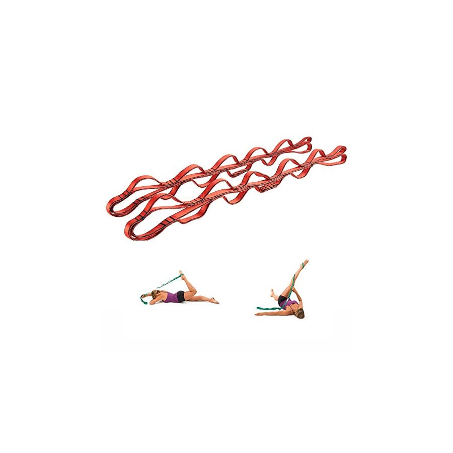 CO Z 2 Yoga Straps Pilates Multi grip Daisy Chain Stretching Belts