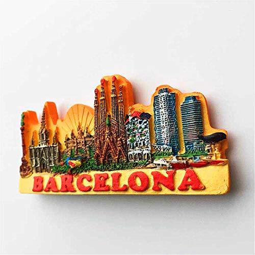 Hqiyaols Souvenir Barcelona Barcelo España Refrigerador 3D Imán de ...