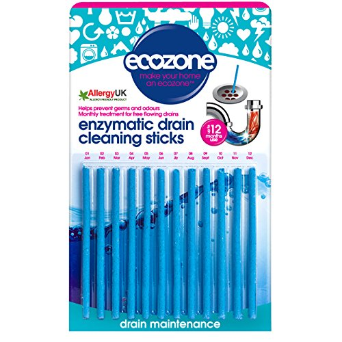 Ecozone Enzymatic Drain Sticks – Helps to Prevent Blockages Forming – 1...