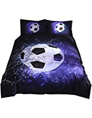 NTBED Basketball and Football Printed Brief Duvet Cover Set 2/3pcs Bed Set Doublesize Bed linen Bedclothes bedding sets(No Sheet No Filling)