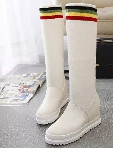 XZZ  Damenschuhe - Stiefel - Kleid   Lässig Lässig Lässig - Kunstleder   Stoff - Keilabsatz - Wedges   Rundeschuh   Modische Stiefel - Schwarz   Rot   Weiß B01L1GRUEU Sport- & Outdoorschuhe Ausgewählte Materialien aadd0b