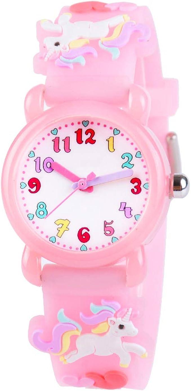 Amazon Com Venhoo Kids Watches 3d Cute Cartoon Waterproof Silicone Children Toddler Wrist Watch Unicorn For 3 4 5 6 7 8 Year Girls Little Child Pink Watches