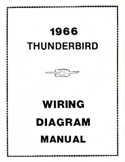 amazon com: bishko automotive literature 1966 ford thunderbird electrical  wiring diagrams schematics manual book factory: automotive