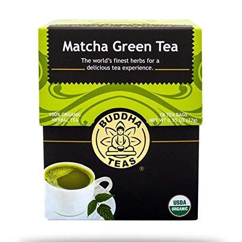 Buddha Teas, Tea, Og1, Matcha Green, Pack of 6, Size - 18 BAG, Quantity - 1 Case