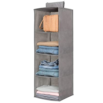 Delicieux Hanging Closet Organizer,Sweater U0026 Sock Organizer With A Hook And  Loops,Collapsible Storage