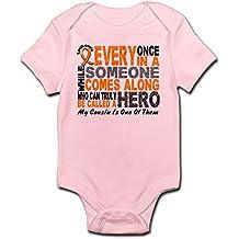 CafePress Hero Comes Along 1 Cousin Leukemia Infant Bodysuit - Cute Infant Bodysuit Baby Romper