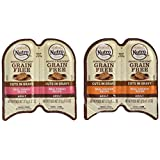 NUTRO PERFECT PORTIONS Grain Free Natural Adult Wet Cat Food Cuts in Gravy Real Turkey and Real Chicken Recipes Variety Pack