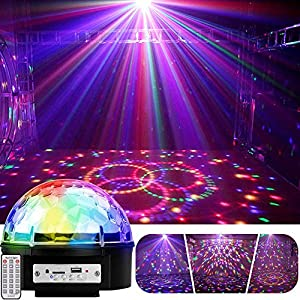 Flashandfocus.com 51GFpooc-HL._SS300_ YouOKLight 9 Color LED Disco Ball Party Lights Strobe Light 18W Sound Activated DJ Lights Stage Lights for Club Party…