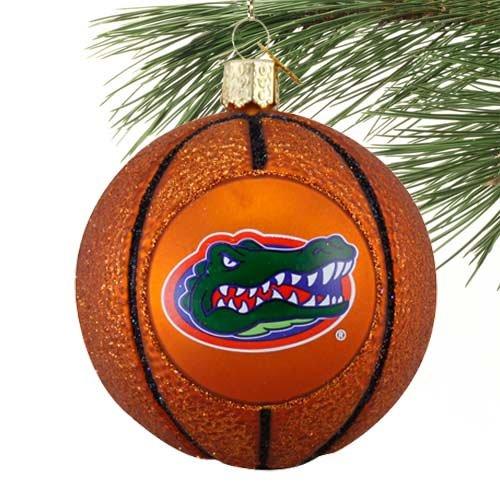 - NCAA Florida Gators 3'' Glass Basketball Ornament