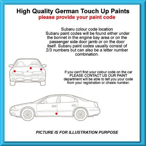 Subaru High Quality German Car Touch Up Paint 30Ml 65C