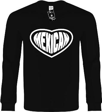 0d4962114a5 Amazon.com  Signature Depot Kids Long Sleeve T-Shirt (Mexican (Heart ...