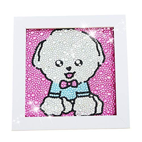 Diamond Painting for Kids Full Drill Painting by Number Kits Arts Crafts Supply Set Rhinestone Mosaic Making for Home Wall Decor Gifts for Christmas Birthday Mothers Day -Include Wooden ()