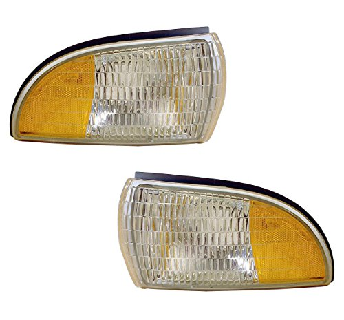 (1991-1996 Chevrolet/Chevy Caprice & Buick Roadmaster Station Wagon, 1994-1996 Impala Corner Park Light Turn Signal Marker Lamp (Dual Bulb Type) Set Pair Right Passenger AND Left Driver Side (1991 91)