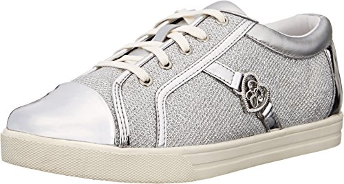 Jessica Simpson Aurora Fashion Athletic (Toddler), Silver Lurex, 5 M US - Aurora Fashion Outlets