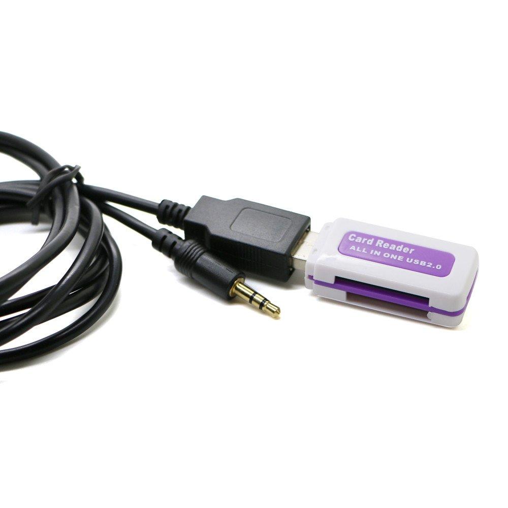 6PIN autoradio digitale USB con interfaccia MP3 caricatore CD con ingresso AUX da 3,5 mm per TOYOTA LEXUS Corolla Series SODIAL 6