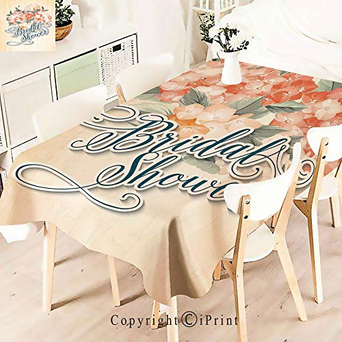 - Elegant Tablecloth Waterproof Spillproof Polyester Fabric,Shabby Chic Romantic Design Hydrangea Flower Table Cover for Kitchen Dinning Tabletop Decoration,W55 xL83,Vermilion Green and Petro