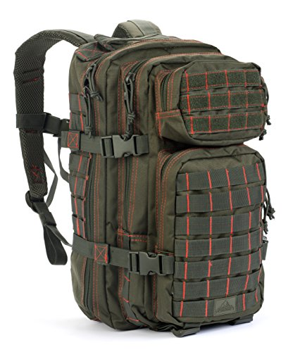 Red Rock Outdoor Gear Rebel Assault Pack, Olive Drab/Red (Rock Pack Performance)