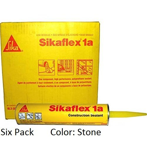 sika-sikaflex-1a-one-part-polyurethane-caulk-sealant-adhesive-103-fl-oz-color-stone-six-pack