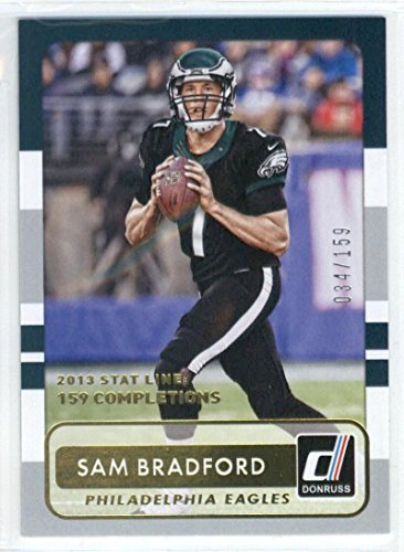2015 Donruss Season Stat Line #14 Sam Bradford NM-MT of 159 Eagles