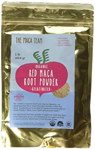 Gelatinized Red Maca Root Powder