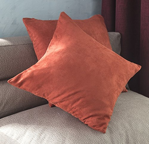 BEST DREAMCITY Faux Suede Pillowcase Set/Cushion Covers for