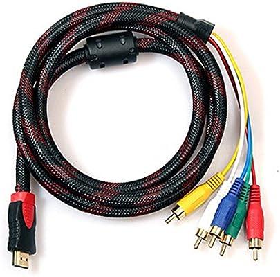 Cable HDMI a RCA, 1,5 m, convertidor Cale/para HDTV, DVD, y la ...