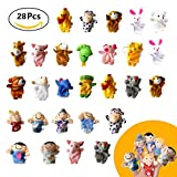 28pcs Soft Plush Finger Puppets Set Baby Story Time for Theme Party Favor