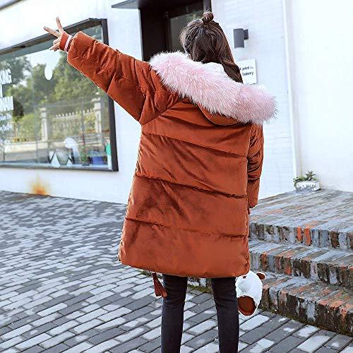 Abrigo Moda Al Prendas Capucha De Largas Acolchadas Piel Chaquetas Invierno Ocio Abrigos Pana Mujer Zhrui Chaqueta Femenina Aire Bolsillo Libre Algodón Con dxIqnA