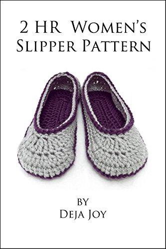 Amazon 2 Hour Slipper Crochet Pattern Ebook Deja Joy Kindle Store