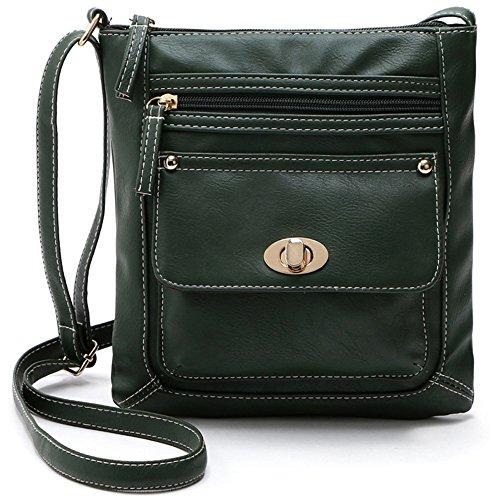 Girls Crossbody Multi for Crossover Bag Pockets Green Shoulder Women Small for Purse Duketea Teen tqdnBT7xt