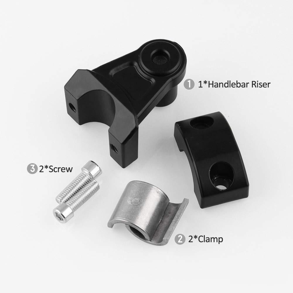 KKmoon 2 pollici universale manubrio moto fat bar riser Mount morsetti per morsetto manubrio 22mm o 28mm per Suzuki BMW Moto Riser Manubrio