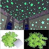 Satya Vipal™ Green Color Fluorescent Glow in The Dark Star Wall Sticker(30 Stars, 4x4 cm)