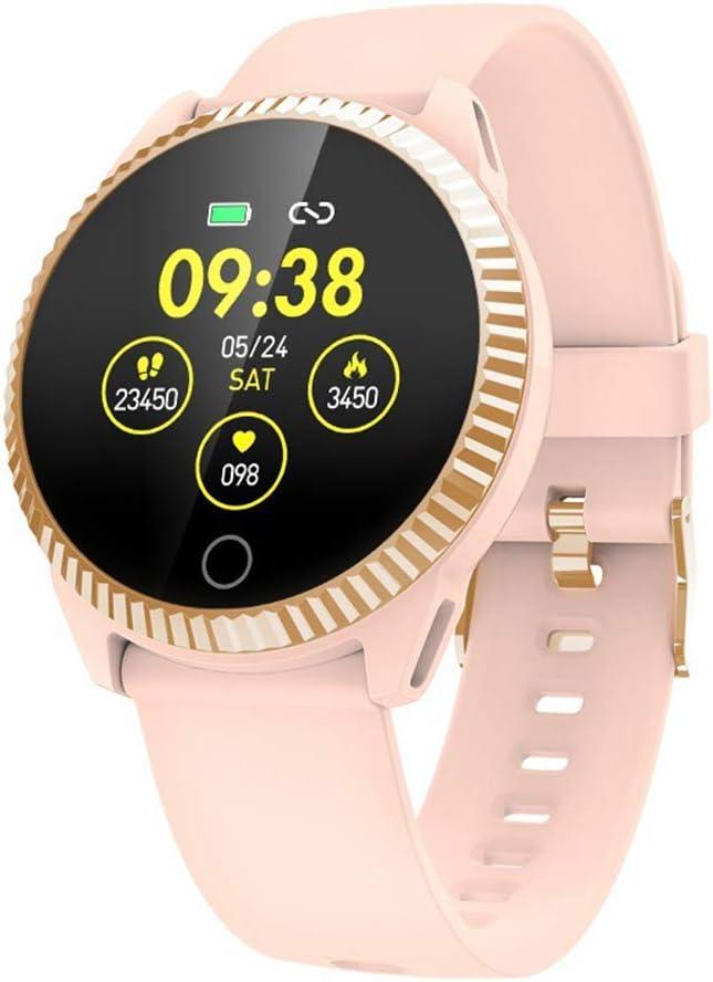 Gymqian Reloj Elegante C19 Moda, Ip67 a Prueba de Agua Hombres Mujeres Smartwatch, Presión Arterial Sueño Del Ritmo Cardíaco Monitor de Rastreador de Ejercicios Deporte Inteligente