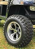12'' TRANSFORMER Machined Wheels and 23x10.5-12 All Terrain Golf Cart Tires - Set of 4