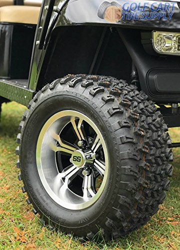 ined Wheels and 23x10.5-12 All Terrain Golf Cart Tires - Set of 4 ()