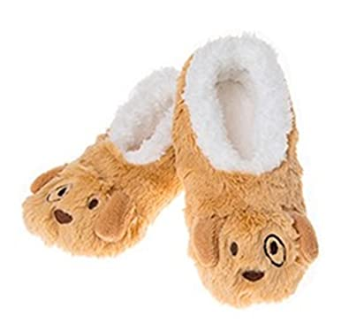 4a8f3ca363e Snoozies Ladies Animal Slippers Puppy Dog ~ Size Med UK 5-6 ~ Super Soft and  Super Cute  Amazon.co.uk  Shoes   Bags
